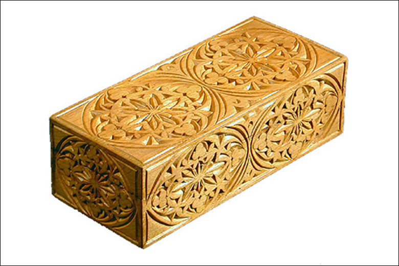 Solid wood matchboxes liberty carvings