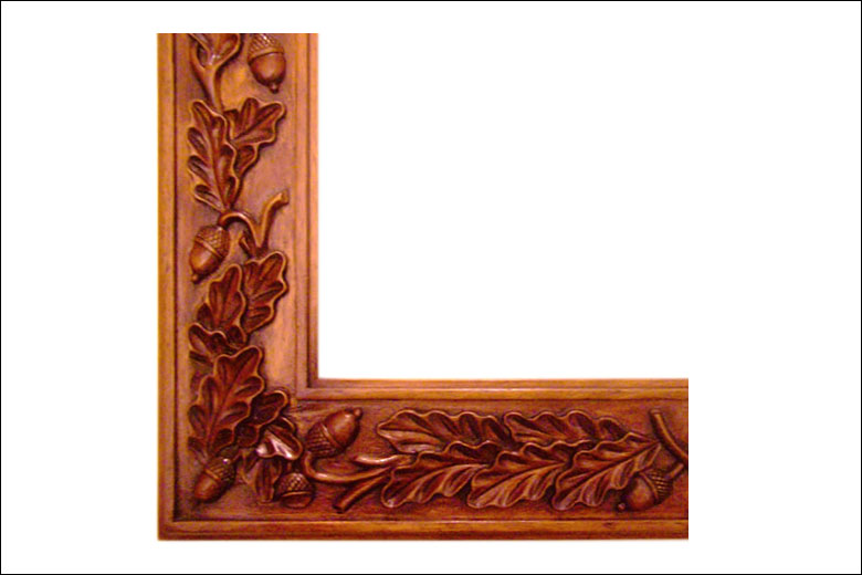 Oak Leaf & Acorn Frame | | Liberty Carvings